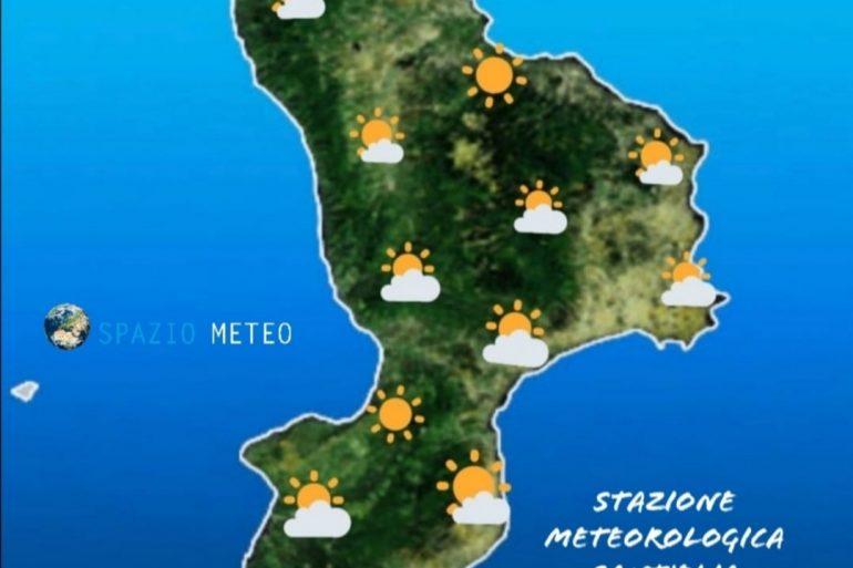 Inizio settimana con clima mite