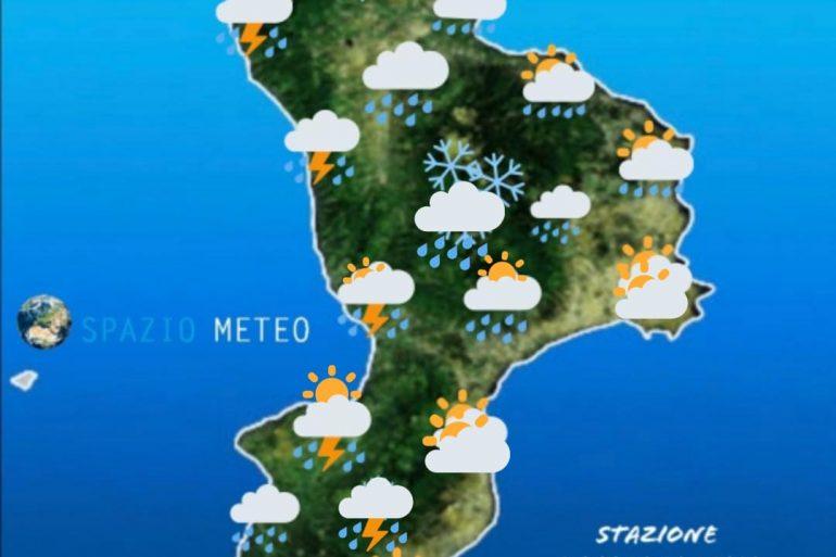 Calabria: tempo fortemente instabile