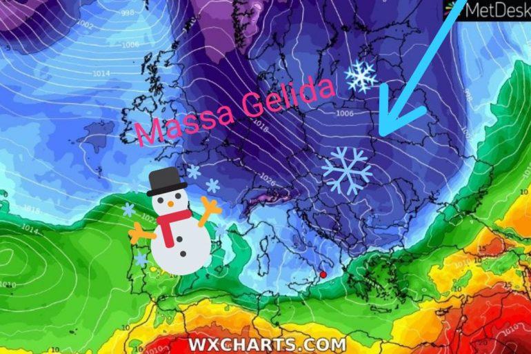 Il ritorno dell'inverno, deboli nevicate e calo sensibile delle temperature