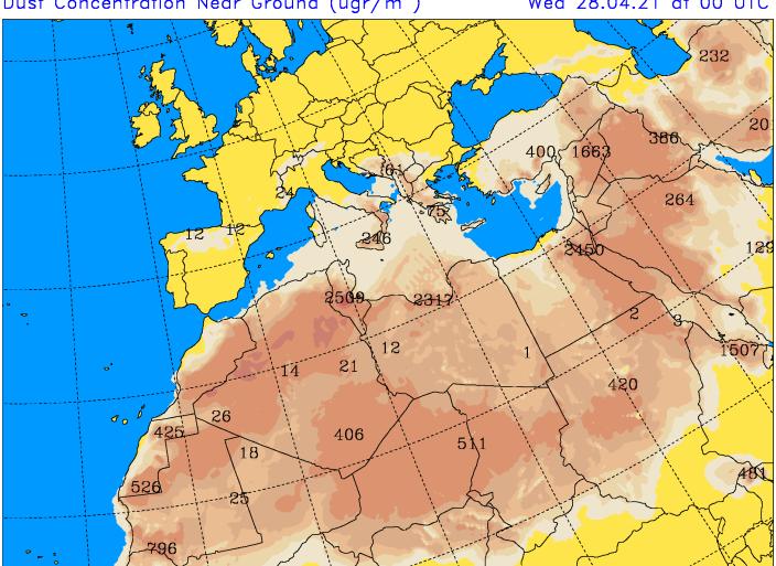 Previsioni Calabria: clima mite ma cielo pallido per pulviscolo desertico